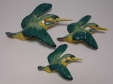 Beswick Kingfisher Wall Plaques (729 - Set of 3)