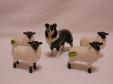 Beswick Sheepdog & Lambs