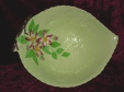 Carlton Ware Green Apple Blossom Footed Salad Bowl