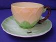 Carlton Ware Green Water Lily Cup & Saucer