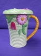Carlton Ware Green Flowers & Basket Chocolate Mug & Lid