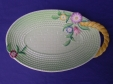 Carlton Ware Green Flowers & Basket Sandwich Tray