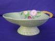 Carlton Ware Green Flowers & Basket Bon Bon Dish