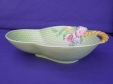 Carlton Ware Green Flowers & Basket Bowl (1922/3)