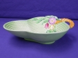 Carlton Ware Green Flowers & Basket Bowl (1922/4)