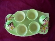Carlton Ware Green Apple Blossom Egg Cruet Set