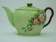 Carlton Ware Green Wild Rose Teapot