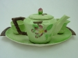 Carlton Ware Greeen Apple Blossom Morning Set on Tray