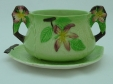 Carlton Ware Green Apple Blossom Mayonnaise Bowl & Underplate