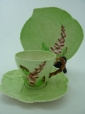 Carlton Ware Green Foxglove Cup, Saucer & Plate