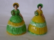 Carlton Ware Green/Yellow & Yellow/Green Crinoline Lady Napkin R