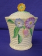Carlton Ware Yellow Flowers & Basket Preserve Pot
