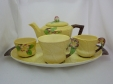 Carlton Ware Yellow Apple Blossom Morning Set on Tray