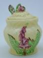 Carlton Ware Yellow Foxglove Preserve Pot & Spoon