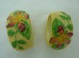 Carlton Ware Yellow Apple Blossom Napkin Rings