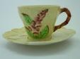 Carlton Ware Yellow Foxglove Cup & Saucer