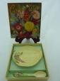 Carlton Ware Yellow Foxglove Pin Dish & Spoon (Boxed)