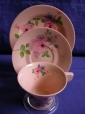 Clarice Cliff Damask Rose Cup/Saucer/Plate