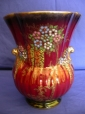 Crown Devon Oriental Tree & Butterflies Lustre Vase