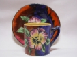 H & K Tunstall Viola Coffee Cup & Saucer