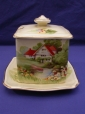 Royal Winton Cream Red Roof Jam Pot & Underplate