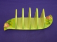 Royal Winton Green Rosebud Toast Rack (5 Bar)