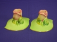 Royal Winton Green Rosebud Candlesticks