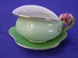 Royal Winton Green Tiger Lily Creamer & Underplate