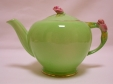 Royal Winton Green Rosebud Teapot