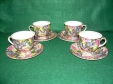 Royal Winton Hazel Chintz Demitasse Cups & Saucers