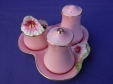 Royal Winton Pink Petunia Cruet Set