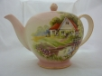 Royal Winton Pink Red Roof Teapot