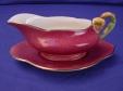 Royal Winton Rouge Petunia Gravy Boat & Underplate