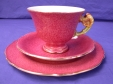 Royal Winton Rouge Petunia Cup, Saucer & Plate