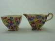 Royal Winton Royalty Chintz Creamer & Sugar Bowl