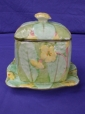 Royal Winton Rubian Art Green/Yellow Primula Preserve Pot