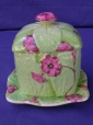 Royal Winton Rubian Art Green/Pink Primula Preserve Pot