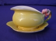 Royal Winton Yellow Tiger Lily Creamer & Underplate