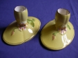 Royal Winton Yellow Petunia Candlestick Holders