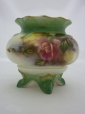 Royal Worcester Hadley Roses Footed Vase