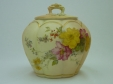 Royal Worcester Floral Lidded Pot (Large)
