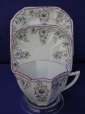 Shelley Pink Scroll (11502) Cup/Saucer/Plate