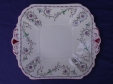 Shelley Pink Scroll (11502) Cake Plate