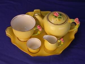 Royal Winton Yellow Rosebud Breakfast Set