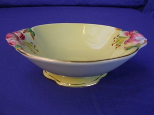Royal Winton Yellow Tiger Lily Footed Bowl
