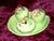 Carlton Ware Green Apple Blossom Cruet Set