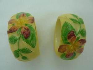 Carlton Ware Yellow Apple Blossom Napkin Rings