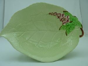 Carlton Ware Green Foxglove Large Footed Bowl