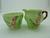 Carlton Ware Green Foxglove Milk Jug & Sugar Bowl