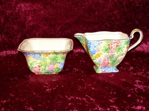 Royal Winton Somerset Chintz Jug & Sugar Bowl